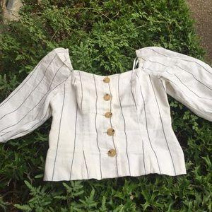 Forever 21 linen blouse